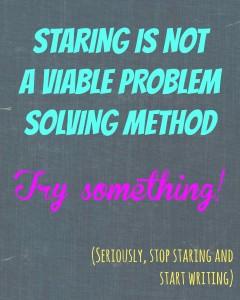 stop staring start writing