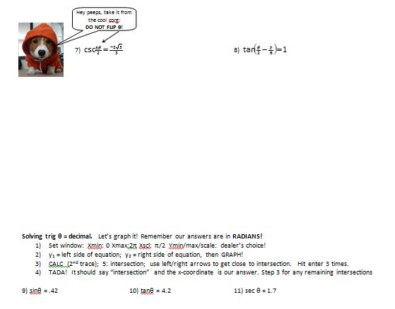 Alg II – Page 4 – Insert Clever Math Pun Here