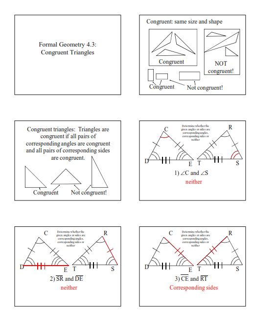 Geometry Files Triangle Congruence Insert Clever Math Pun Here – Congruent Triangles Worksheet