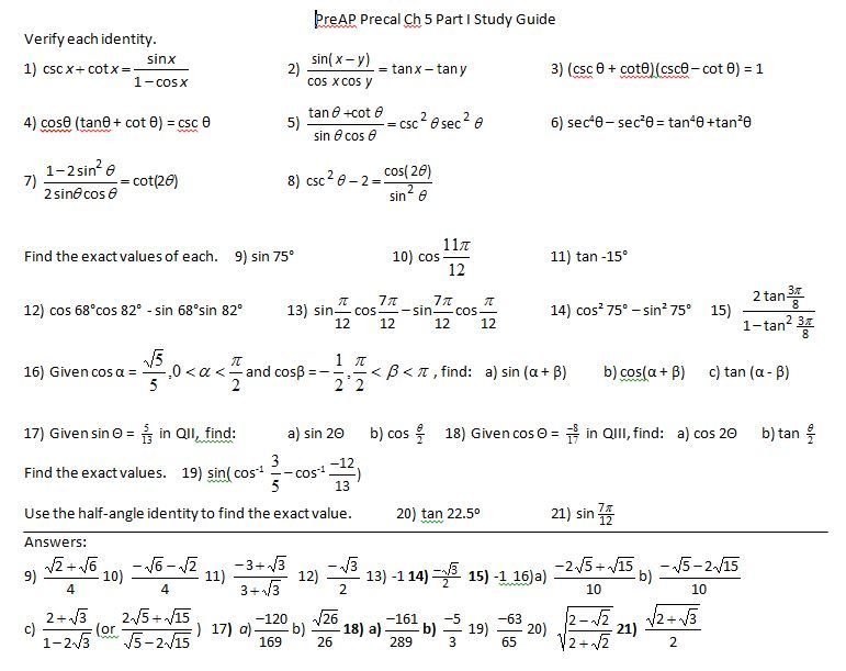 trig Insert Clever Math Pun Here – Trig Equations Worksheet