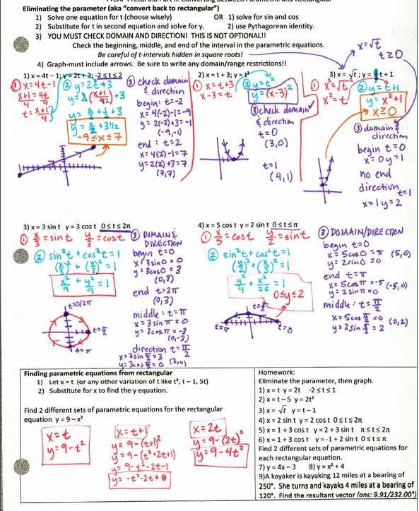 Precal files from megcraig.org