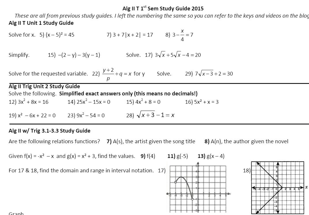 Alg II SG Example